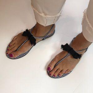 J. Crew Gingham Sandals
